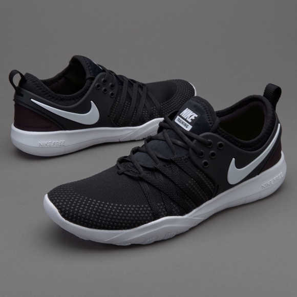Details about NIKE FREE TR 7 Womens Running Training Gym Shoes 904651 001 Black White Size 7